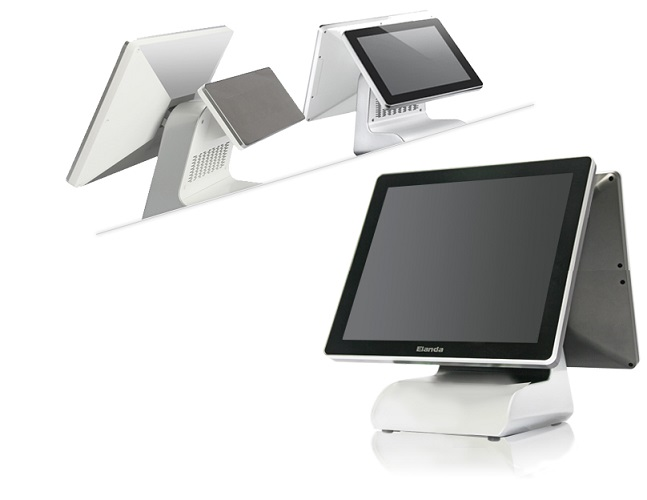 All-In-One POS Touch Screen Systems,Dual Screen Windows POS